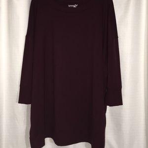 Terra & sky, 3/4 sleeve crew neck sweater, 3x